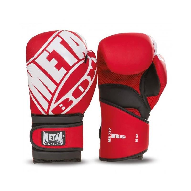 gants de boxe metal boxe entraînement RS rouge
