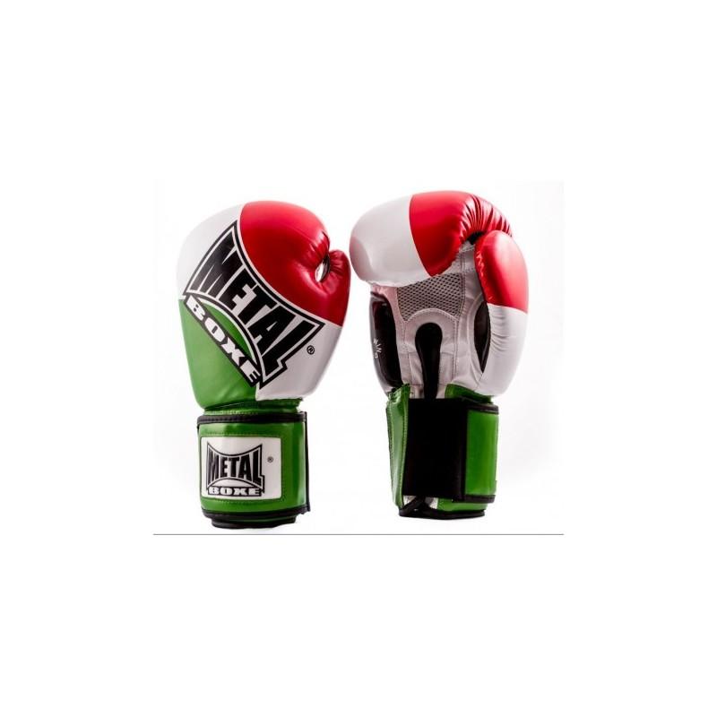 Gants de boxe d'entraînement au couleur du drapeau Italien