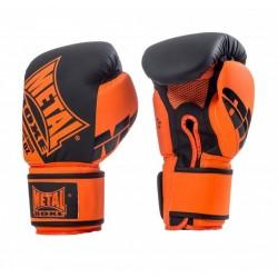 Gants entraînement Noir-Orange - Metal Boxe